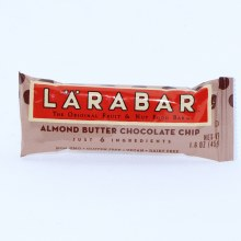 Larabar Almond Butter Chocolate Chip Fruit  and  Nut Bar NON GMO Gluten Free Vegan  and  Dairy Free