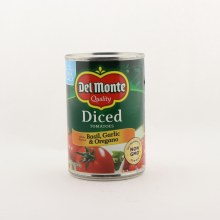 Del Monte diced tomatoes basil garlic  and  oregano 14.5 oz