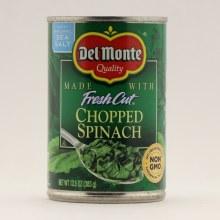 Del Monte chopped spinach