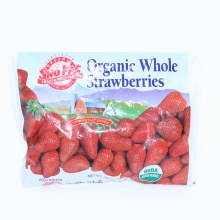 Sno Pac Organic Whole Strawberries 10 oz