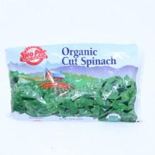 Sno Pac Organic Cut Spinach 10 oz 10 oz