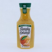 Simply Orange 100Per Cent Juice Blend with Tangerine. Pulp Free. 52 fl oz.