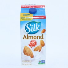Silk  Original Almond Milk  Non GMO  Dairy  and  Lactose Free  Gluten Free  Soy Free  Carrageenan Free  No Saturated Fat  Cholesterol Free  No Artificial Colors or Flavors 64 oz