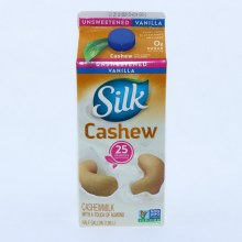 Silk Cashew Unsweetened Vanilla with a touch of Almond Dairy Free Gluten Free Soy Free NON GMO 64 oz
