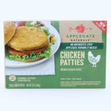 Applegate Naturals Chicken Patties. No Antibiotics used.  12 oz
