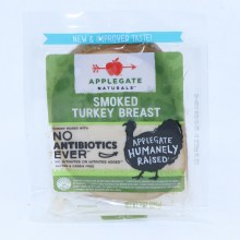 Applegate Naturals Smoked Turkey Breast  No Antibiotics Added  No Nitrates Added  Gluten  and  Casein Free