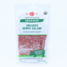 Applegate Organics Uncured Genea Salami No Antibiotics or Nitrates Gluten  and  Casein Free