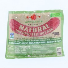 Applegate Naturals  Natural Uncured Beef Hot Dog  No Antibiotics  No Fillers  Gluten and Casein Free