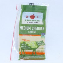 Applegate Medium Cheddar Cheese Non GMO 8 Slices 6 oz