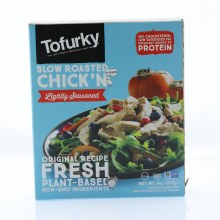 Tofurky Lightly Seasoned Slow Roasted Chickn No Cholesterol Low Saturated Fat NON GMO Excellent Source of Protein 8 oz