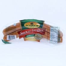 Eckrich Smoked Sausage Made with Pork Turkey and Beef Skinless and Naturally Hardwood Smoked