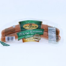 Eckrich Polska Kielbasa Made with Pork Turkey and Beef Skinless and Naturally Hardwood Smoked