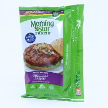Morning Star Veggie Burgers Grillers Prime 150 Calories 16g Protein 46Per Cent Less Fat than Regular Ground Beef 4 Veggie Burgers 10 oz