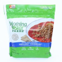 Morning Star Grillers Crumbles 75Per Cent Less Fat than Regular Ground Beef 9g Protein 3g Fiber 12 oz