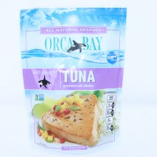 Orca Bay Tuna Premium Ahi Steaks Wild Caught Non GMO 10 oz 10 oz