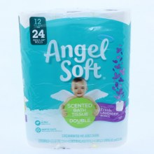 Angel Soft Lavendar Scented Bath Tissue Double Roll 2 Ply 12 Rolls in a Pack