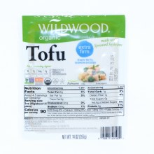 Wildwood Organic Tofu made with Sprouted Soybeans NON GMO USDA Organic  14 oz