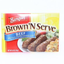 Banquet Brown N Serve Beef Sausages Links 10 Sausages 6.4 oz