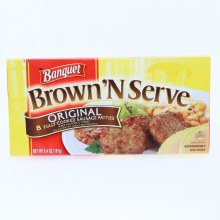Banquet Brown N Serve Original Sausage Patties made with Pork  and  Turkey 8 Sausages Patties 6.4 oz