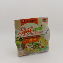 Nongshim Bowl Noodle Savory Soup Chicken Flavor 0g Trans Fat Per Serving BPA Free Made In USA