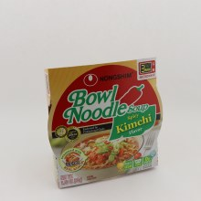 Nongshim Bowl Noodle Soup Spicy Kimchi Flavor Seasoned With Real Kimchi 0g Trans Fat Per Serving BPA Free Made In USA