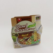 Nongshim Bowl Noodle Savory Soup Beef Flavor 0g Trans Fat Per Serving BPA Free Made In USA
