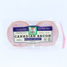Jones Hickory Smoked Canadian Bacon  Center Cut Pork Loin  10g of Protein  97Per Cent Fat Free  Gluten Free