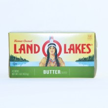 Land O Lakes Salted Butter 4 Quarters  16 oz