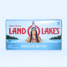Land O Lakes Unsalted Butter 4 Quarters  16 oz