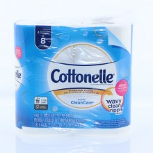 Cottonelle Ultra Clean Care 1-Ply Sheets Toilet Paper 4 Rolls