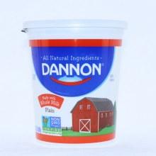 Dannon Plain Yogurt made with Whole Milk Non GMO Gluten Free 32oz 32 oz