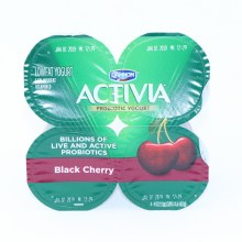 Dannon  Activia Black Berry Probiotic Yogurt  Lowfat Yogurt  4 4oz Cups  Gluten Free  Calciumn  and  Vitamon D for Strong Bones 4 pk