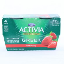 Activia Greek Straberry 4pk
