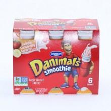 Dannon  Danimals Smoothie  Strawberry Banana Flavor  6 3.1oz Bottles  Non GMO 18.6 oz