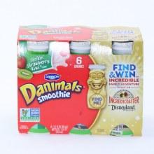 Dannon  Danimals Smoothie Strawberry Kiwi Flavor 6 3.1oz Bottles Non GMO 18.6 oz