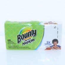 Bounty White Napkins 100ct