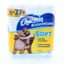 Charmin Essentials Soft Regular Bathroom Tissue Rolls 12 Rolls to a Pack