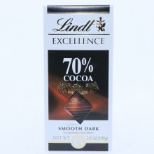 Lindt Excellence Smooth Dark Chocolate 70Per Cent Cocoa