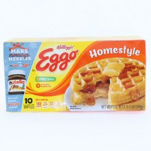 Kelloggs Eggo Homestyle Waffles  Colors and Flavors from Natural Sources 12.3 oz
