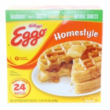 Kellogg's Eggo Homestyle Waffles, Family Pack, Colors and Flavors from Natural Sources 29.6 oz