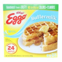 Kelloggs Eggo Buttermilk Waffles  Family Pack  No Artificial Colors or Flavors  24 count 29.6 oz