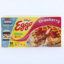 Kelloggs Eggo Strawberry Waffles Colors and Flavors from Natural Sources 12.3 oz