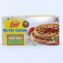 Kelloggs Eggo Nutri Grain Waffles Made with 8G of Whole Grain No Artificial Colors or Flavors 12.3 oz