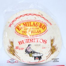 El Milagro Flour Tortillas for Burritos  30 oz