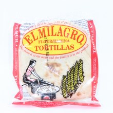 El Milagro Flour Tortillas, one dozen. 12 oz.  12 oz