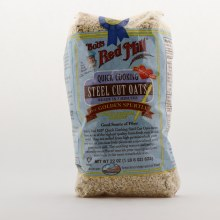 Bob's Red Mill Quick Cooking Steel Cut Oats Oatmeal, Ready In 7 Minutes 22 oz