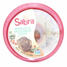 Sabra Spinach  and  Artichoke Hummus