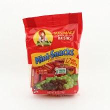SunMaid California Sun-Dried Raisins 12 Mini Boxes Snacks  7 oz