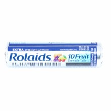 Rolaids Assorted 10 Fruit Chewable Tablets, Extra Strenght Antacid  1 pk
