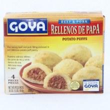 Goya Rellenos De Papa  Frozen Beef and Pork Potato Puffs 11 oz